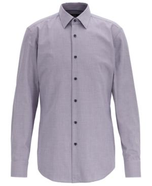 Boss Men's Jano Slim-Fit Micro-Patterned Cotton Twill Shirt