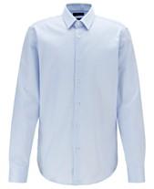 a167587c56ac BOSS Men's Eliott Regular-Fit Striped Cotton Shirt