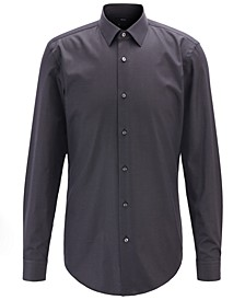 BOSS Men's Isko Slim-Fit Micro-Dot Shirt
