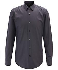 BOSS Men's Isko Slim-Fit Micro-Dot Shirt