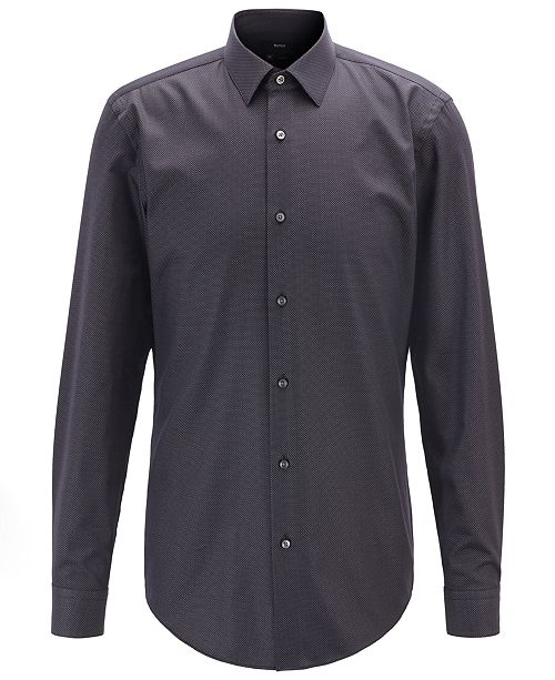 Hugo Boss BOSS Men's Isko Slim-Fit Micro-Dot Shirt