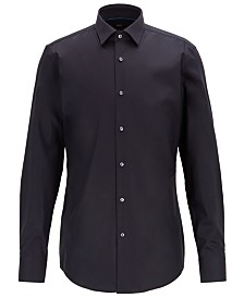 BOSS Men's Jonty Slim-Fit Easy-Iron Austrian Cotton Shirt