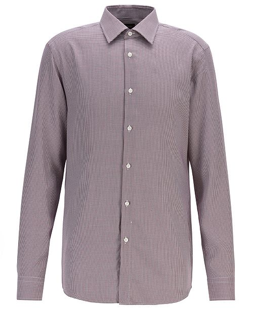 Hugo Boss BOSS Men's T-Carl Slim-Fit Micro-Check Shirt