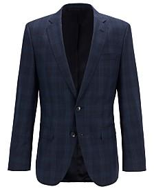 BOSS Men's Slim-Fit Checked Jacket