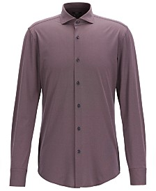 BOSS Men's Jason Travel Line Slim-Fit Micro-Structured Shirt