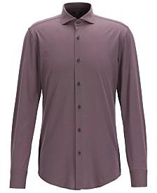 BOSS Men's Jason Travel Line Slim-Fit Micro-Structured Shirt