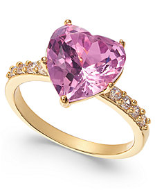 Charter Club Crystal Heart Ring, Created For Macy's