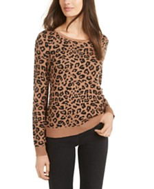 BCX Juniors' Leopard Print Sweater