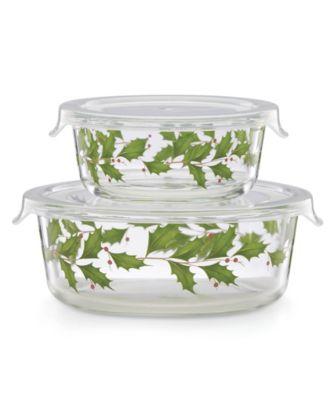 Hosting the Holidays Glass Storage Bowls