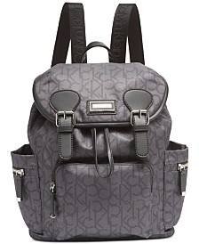 Calvin Klein Signature  Double Buckle Backpack