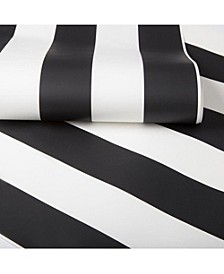 Graham Brown Monochrome Stripe Wallpaper