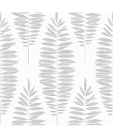Graham Brown Lucia White Silver Wallpaper