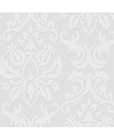 Graham Brown Large Damask Paintable Wallpaper