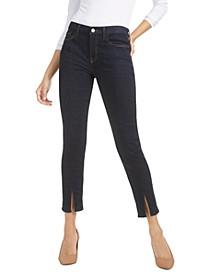 Split-Seam Ankle Skinny Jeans