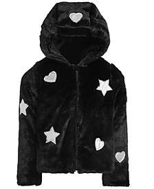 Little Girls Hooded Faux-Fur Teddy Jacket