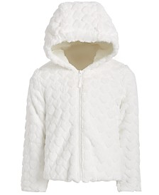 S Rothschild & CO Toddler Girls Hooded Faux-Fur Teddy Jacket