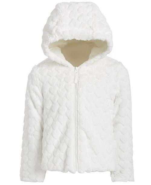S Rothschild & CO Little Girls Hooded Faux-Fur Teddy Jacket