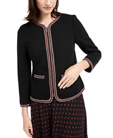 Anne Klein Braid-Trim Jacket