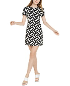 Trina Trina Turk Optic Geo-Print Sheath Dress