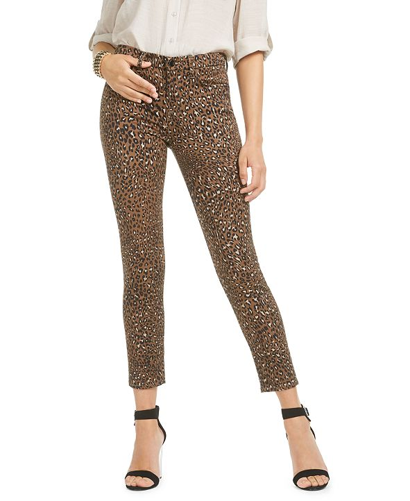 Jen7 by 7 For All Mankind Animal Printed Ankle Skinny Jeans