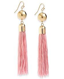 INC Gold-Tone Fringe Drop Earrings, Created For Macy's