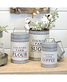 VIP Home International 3-Piece Metal Canisters
