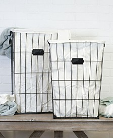 VIP Home International 2-Piece and Metal Laundry Baskets