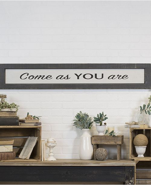 """VIP Home & Garden VIP Home International Wood """"Come As You Are"""" Sign"""