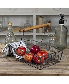 VIP Home International Metal Basket with Wood Handle