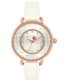 Betsey Johnson Polka Dot Dial Rose Gold Watch 38mm