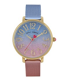Betsey Johnson Gradient Stainless Steel Mesh Watch 36mm
