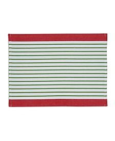 Design Imports X-mas Pine Needle Stripe Placemat Set