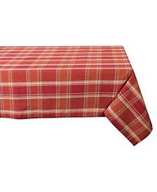 Autumn Spice Plaid Tablecloth