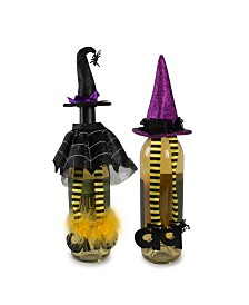 Design Imports Witch Wine Bottle Outfits Set