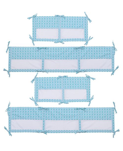 Disney Little Mermaid 4-Piece Printed Crib Liner