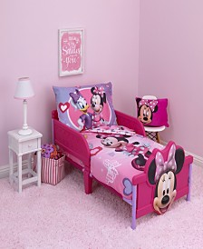 Disney Minnie Mouse 4-Piece Toddler Bedding Set