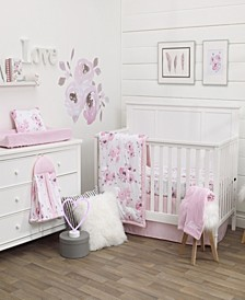 Watercolor Floral 8-Piece Crib Bedding Set