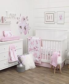 Watercolor Floral 8-Piece Crib Bedding Set