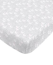 Nojo Swan Mini Crib Sheet