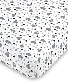 Mountain Patchwork Fitted Crib Sheet