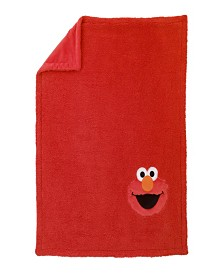Sesame Street Elmo Sherpa Blanket with Applique