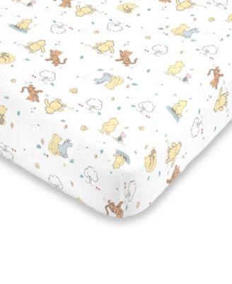 Classic Winnie the Pooh Fitted Mini Crib Sheet