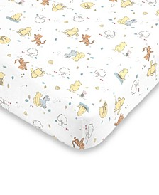 Classic Winnie the Pooh Fitted Mini Crib Sheet