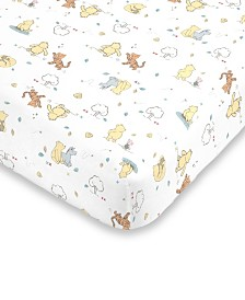 Disney Classic Winnie the Pooh Fitted Mini Crib Sheet