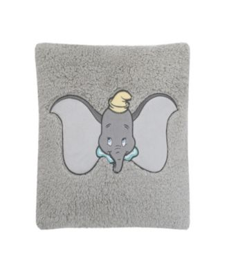 Dumbo Sherpa Pillow With Applique