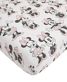 Disney Minnie Mouse Fitted Mini Crib Sheet