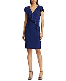 Ruffle-Trim Jersey Dress
