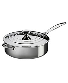 Stainless Steel 4.5-Qt. Saute Pan with Lid & Helper Handle