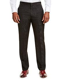 Sean John Men's Classic-Fit Black Paisley Suit Pants