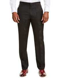 Sean John Men's Classic-Fit Black Paisley Suit Pants